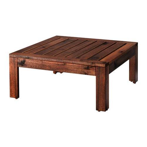 eLisa8 ÄPPLARÖ–Tisch/Hocker Bereich, Outdoor, Braun gebeizt