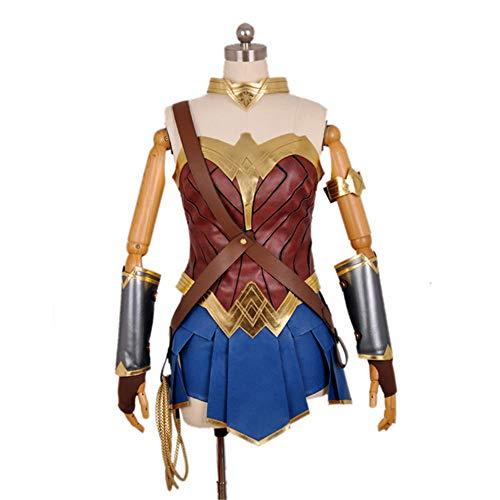 ZQ Sexy Held Kostüm Kostüm Wonder Woman Cosplay Dame Kostüm mit Kopfschmuck und Handschutz,XXL