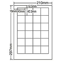 東洋印刷 シートカットラベル A4版 24面付(1ケース500シート) LDW24PF