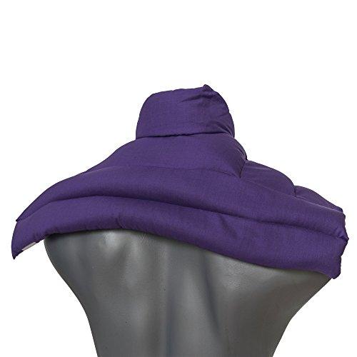 Wärmekissen Nacken: Rapssamenkissen Schulter & Nackenkissen mit Kragen. Wärmekissen Körnerkissen Nackenwärmer Heizkissen für Mikrowelle und Backofen (Farbe: lila, Rapssamen)
