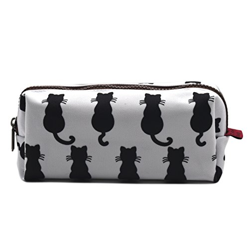 Black Cat Pencil Case Pouch Teacher Gift Gadget Bag Make Up Case Cosmetic Bag