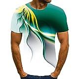 Camiseta Popular De Los Hombres Camiseta De Manga Corta con ImpresióN 3D Camiseta Unique Ray Cuello Redondo Suelto
