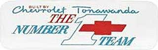 CHEVROLET BIG-BLOCK ENGINE VALVE COVER DECAL STICKER NEW - TONAWANDA #1 TEAM - Silver -