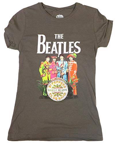 The Beatles Sgt. Pepper's Lonely Hearts Club Band Juniors T-Shirt - Charcoal (Large)