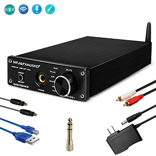 FX Audio Wireless Bluetooth Digital to Analog Converter HiFi Mini Stereo Audio Headphone Amplifier Decoder with DC12V Power Supply for Home Audio Player