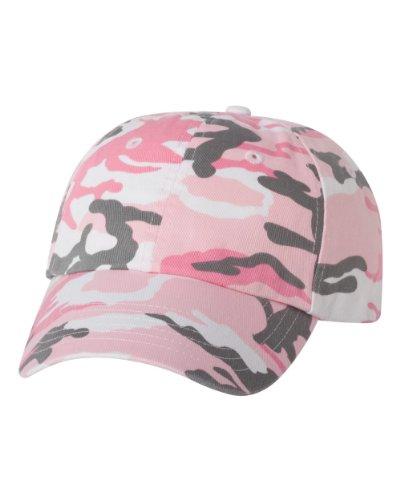 Joe's USA(tm Cotton Dad Hat Adjustable Plain Cap Low Profile-Pink Camo
