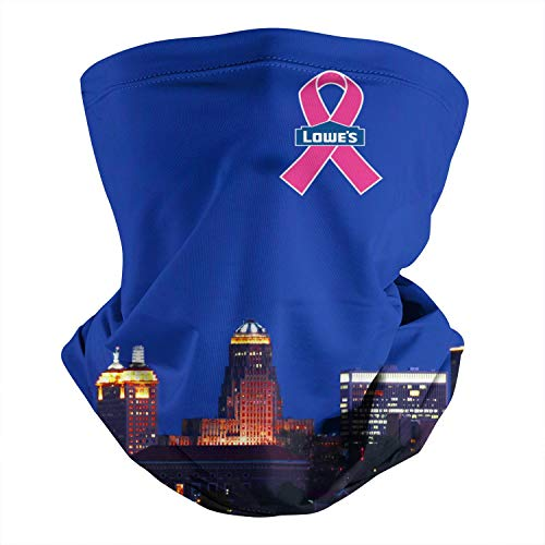 Lowe's-Pink-Breast-Cancer-Logo- Seamless Neck Gaiter Face Mask Balaclava Headwrap for Cycling Sport