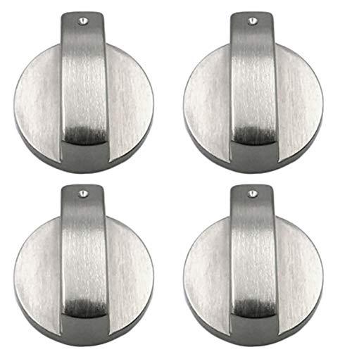 PopHMN Manopole per fornelli, 4PCS 6MM Manopole per fornelli Manopole per fornelli a gas Interruttore per forno Manopole di controllo della superficie di cottura