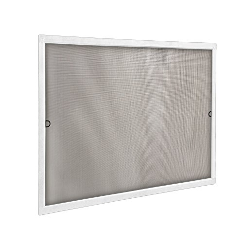 jarolift Fliegengitter für Fenster SlimLine Insektenschutz ohne Bohren, mit Alurahmen Spannrahmen, Mückenschutz Mückengitter, 60 x 150 cm, Weiß