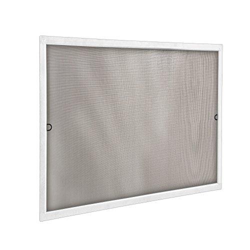 jarolift Fliegengitter für Fenster SlimLine Insektenschutz ohne Bohren, mit Alurahmen Spannrahmen, Mückenschutz Mückengitter, 100 x 150 cm, Weiß