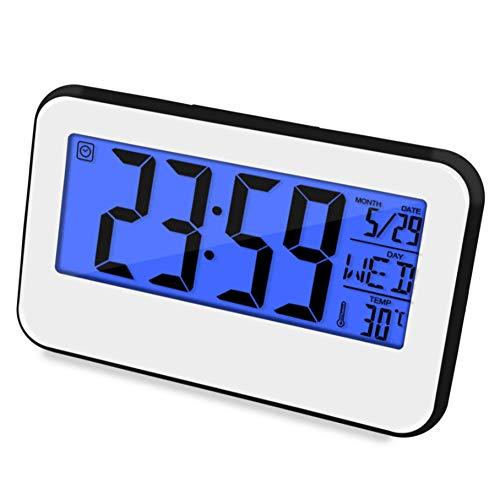 WPYDHM Multifunctionele smart-wekker creatieve snooze Lazy temperatuur versie oplichtend geluid digitale klok Smart Sensitive digitale wekker C
