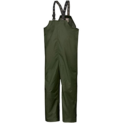 Helly Hansen Workwear Men's Mandal Fishing and Rain Bib Pant, Army Green, Medium