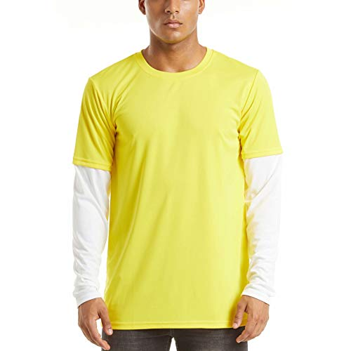 Long Sleeve Sun Protection Shirt Men UPF 50+ Fishing Shirts Sun Protection Moisture Wicking Active Athletic Shirts T-Shirt Summer Running Shirts