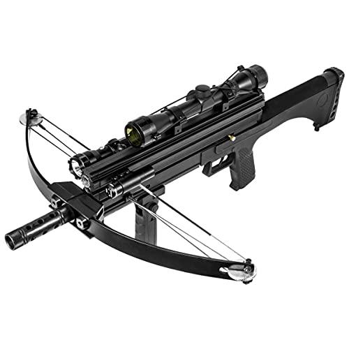 WT4 Hybrid Crossbow 80 lbs 160 fps Hunting Flashlight Scope Red Light Pointer Combo w/Magazine...
