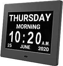 HUANUO Digital Calendar Alarm Day Clock - with 8