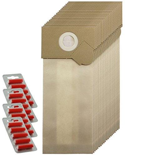 SPARES2GO sterke stofzakken voor Wetrok Capawel 350-450 Stofzuiger (Pak van 20 + 20 Fresheners)