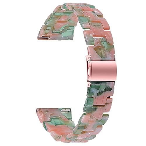 ZLYZS Resin Uhrenarmbänder Kompatibel Mit Versa 2/Versa/Versa Lite, Damen Ersatzarmband Sport Straps Fashion Armband Metallschnalle Uhrenarmband Kompatibel Mit Versa 2,B