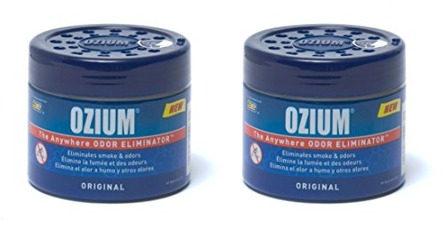 Ozium 804281-2 Regular (4.5oz) - 2 Pack Smoke & Odors Eliminator Gel, Original Scent