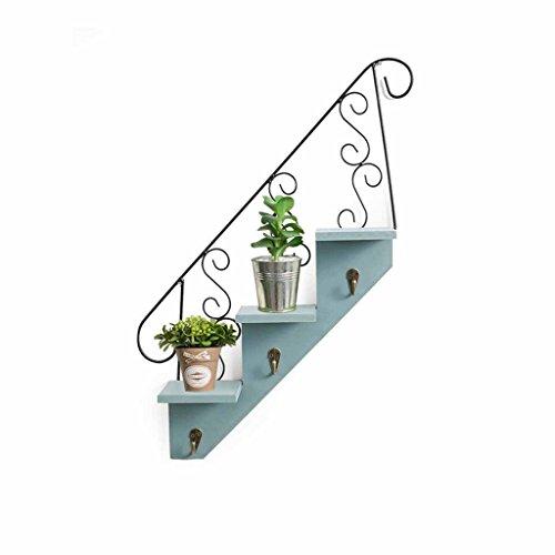 AJZGFStand d'extérieur pour plantes d'intérieur Étagère murale européenne rétro, décorations de fer de mur, support mural décoratif de fleur de mur,