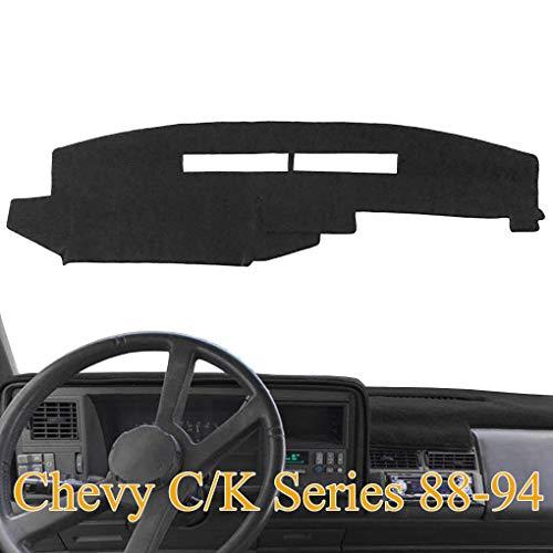 Dashboard Cover Dash Cover Mat Custom Fit for Chevy Chevrolet C1500 C2500 C3500 K1500 K2500 K3500 Pickup Truck 1988-1994 (88-94, Black) Y25
