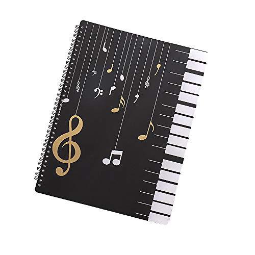 TONGXU - Raccoglitore portaspartiti, formato A4, impermeabile, cartellina portaspartiti, raccogli documenti di carta, per spartiti musicali 31,5 x 23,