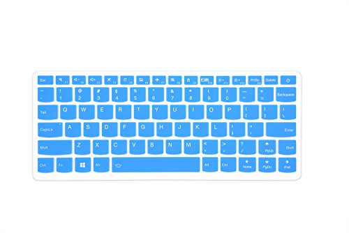 Leze–Ultra Dünn Silikon Laptop-Tastatur Cover Haut Displayschutzfolie für für 33,8cm Lenovo IdeaPad 710S, IdeaPad 510S Ultra-Portables Laptop Tr Blue