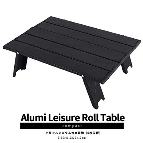 QAQB Aluminium Outdoor Mini Klapptisch Camping Tisch Camping Zelt Tragbarer Couchtisch Haushalt Teller Tisch Möbel-2
