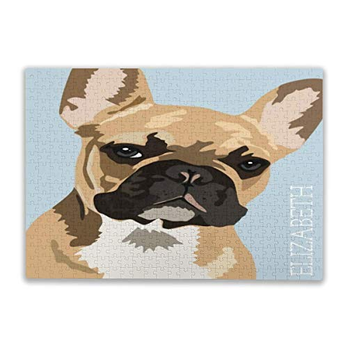Personalized Fawn French Bulldog Puzzle for Adults, 500 Piece Jigsaw Puzzle Premium Materials