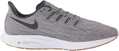Nike Air Zoom Pegasus 36 Men's Running Shoe Gunsmoke/Oil Grey-White-Gum Light Brown Size 10.5