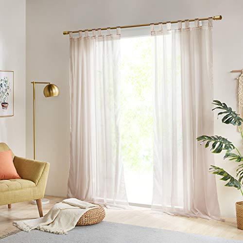 Gardinen Schals Vorhänge Transparent Vorhang für große Fenster Schlafzimmer Benny Braun, lang (2er-Set, je...