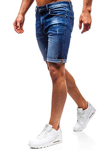 BOLF Herren Kurzhose Jeanshose Sporthose Casual Short Hose Ross KEMP T575 Dunkelblau 30 [7G7]