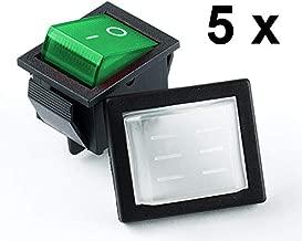 Wippschalter Ein//Aus Wasserdichter Schutzkappe 230V Beleuchtet Rot,Grün,Blau,Gel