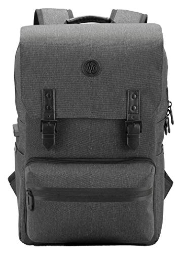 HP Millennial Backpack with Detachable Laptop Sleeve and Pouch (Black, Ebony)
