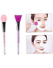 2PCS Silicone Face Face-cover Brush Makeup skönhet verktyg Facial Mud Face-cover applikator Body Lotion Body Butter Applicator Brush (Pink & Purple), som vanligen används smink verktyg och tillbehör