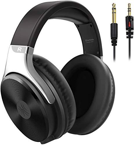 OneOdio Kopfhörer Over Ear mit Kabel, Geschlossener HiFi Stereo Kopfhörer mit Mikrofon, Share Port, Adapter-frei 6.35 auf 3.5mm Klinke,weiche Ohrpolster für Musik Handys Laptop PC MP3