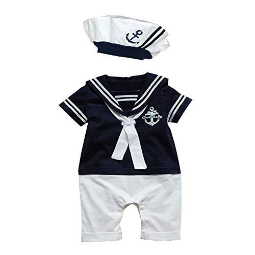 Paisdola Baby Kleinkind Jungen Seemann Strampler Outfit