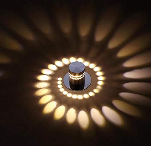 Applique murale simple et créative encastrable, applique murale encastrable, applique murale, couloir, lampe de chevet, lampe ronde, diamètre 5,5 cm, aluminium 3 W LED