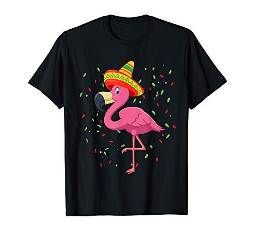 Disfraz de Happy Flamingo Funny Mexican Party Cinco De Mayo Camiseta