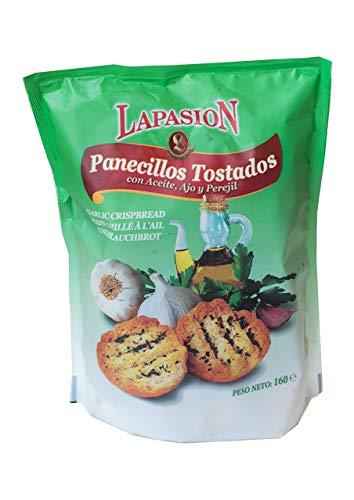 LAPASION - Panecillos tostados con aceite, ajo y perejil 160g por 12 paquetes