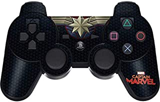 Skinit Decal Gaming Skin for PS3 Dual Shock Wireless Controller - Officially Licensed Marvel/Disney Captain Marvel Emblem Design