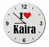 EXCLUSIVO: Vidrio de reloj 'I Love Kaira' una gran idea para un regalo para su pareja, colegas y muchos más! - reloj, Regaluhr, Regalo, Amo, Made in Germany.