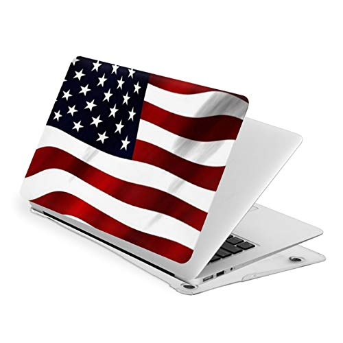 Air 13 inch Case,Red White And Blue Wavy Patriotic American Flag Ultra Slim Hard Shell Protective Case,Laptop Hard Shell Cover Protective (Model A1466 A1369, Size 32.9 x 23.1cm)