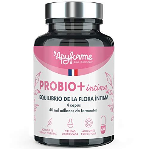 PROBIO+ INTIMA 4 ceppi concentrati a 40 miliardi di UFC per capsula, Lactobacillus reuteri, Lactobacillus rhamnosus e Lactobacillus crispatus 100% francese