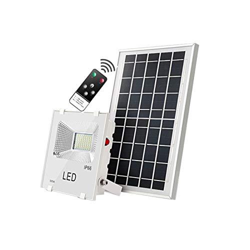 WKZ Foco Solar Proyector, Iluminación De Alta Potencia,Foco Solar Led Exterior para Puertas Exteriores, Valla, Cobertizo, Granero, Garaje Luz De Inundación Solares(Size:100W)