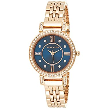 Anne Klein Women's Premium Crystal Accented Bracelet Watch, AK/2928