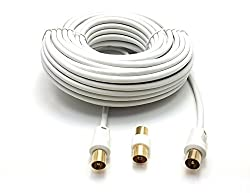 Male to male cable, complete with female to female adapter For connecting your TV or other compatible device with the wall or cable connector, optimised for superb picture and sound quality, HD-TV broadcasts with exceptional sharpness fitted, particu...