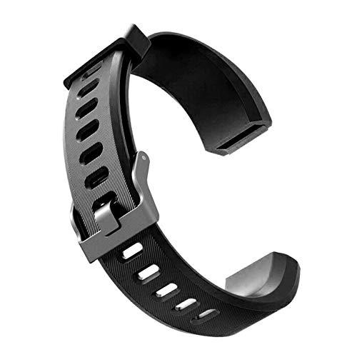 Sguan-wu Silikon Ersatz Smart Armband Band Handschlaufe für Veryfit ID115 ID115Plus - für Veryfit ID115Plus Schwarz