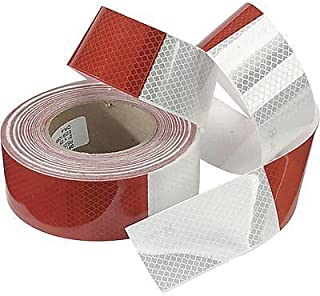 """2/"""" x 150/' DOT-C2 Conspicuity Tape  6/"""" x 6/"""" Red 48mm 4 ROLL CASE"""
