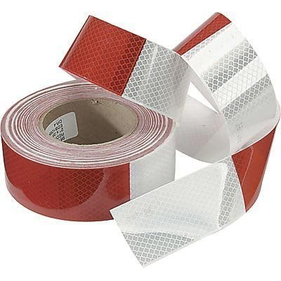 ABN Reflective Conspicuity Tape - 2in X 150 Feet - DOT Reflective Red/White C2 Trailer