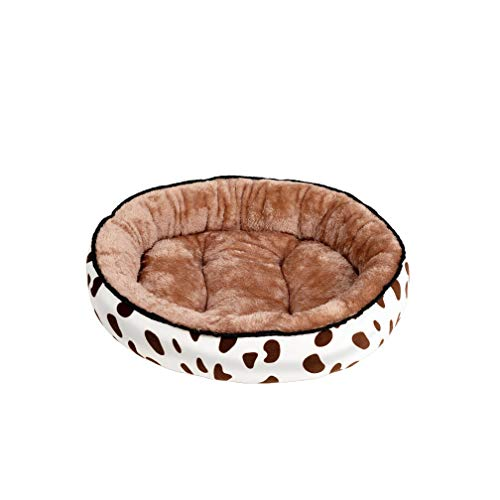 Perfect-Mood Dog Bed Warming Kennel Pet Floppy Comfy Plush Cushion Nonslip Bottom Dog Beds for Large Small Dogs House Yorkshire Terrier-Coffee-40X30Cm